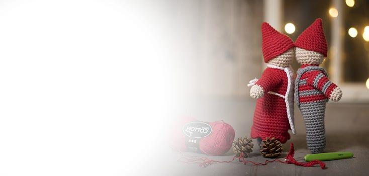Kudotut ja virkatut joulukoristeet