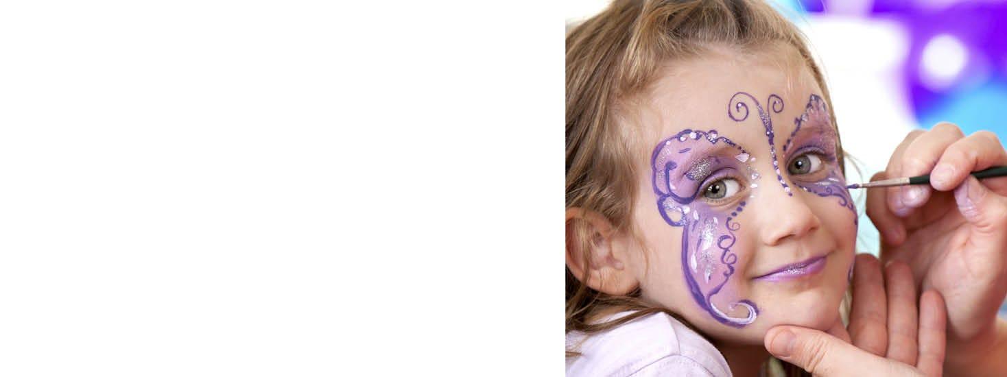 Kasvomaalaus, naamiaisasut ja -tarvikkeet