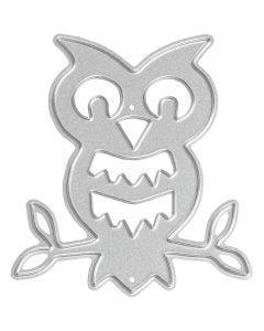 Kuvioterä, pöllö, koko 5,6x6,1 cm, 1 kpl