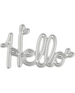 Kuvioterä, Hello, koko 59x36 mm, 1 kpl