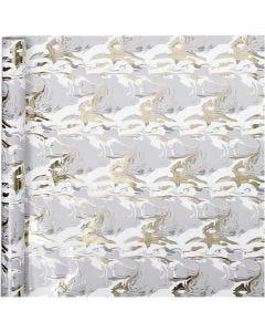 Lahjapaperi, marmorointi, Lev: 50 cm, 80 g, 3 m/ 1 rll