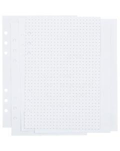 Kalenterin sivut, pisteet, koko 142x210 mm, 36 , 120 g, valkoinen, 1 kpl/ 1 pkk