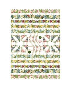 Kiiltokuvat, kukkaköynnökset, 16,5x23,5 cm, 3 ark/ 1 pkk