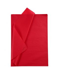 Silkkipaperi, 50x70 cm, 14 g, punainen, 10 ark/ 1 pkk