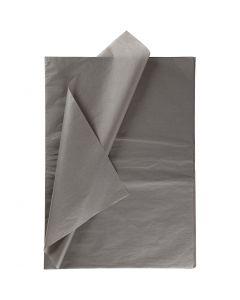 Silkkipaperi, 50x70 cm, 14 g, tummanharmaa, 10 ark/ 1 pkk