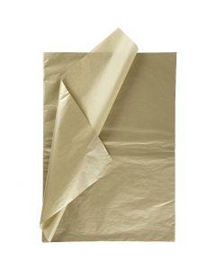 Silkkipaperi, 50x70 cm, 14 g, kulta, 6 ark/ 1 pkk
