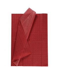 Silkkipaperi, 50x70 cm, 17 g, punainen, 6 ark/ 1 pkk