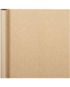 Lahjapaperi, Lev: 50 cm, 60 g, luonnonrusk., 5 m/ 1 rll