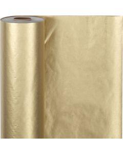 Lahjapaperi, Lev: 50 cm, 60 g, kulta, 100 m/ 1 rll