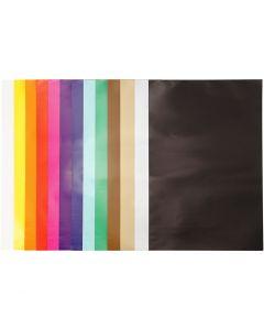 Kiiltopaperi, 32x48 cm, 80 g, värilajitelma, 100 ark/ 1 pkk