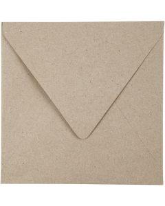 Kirjekuoret, eko, kirjekuoren koko 16x16 cm, 120 g, luonnonrusk., 50 kpl/ 1 pkk