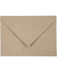 Kirjekuoret, eko, kirjekuoren koko 11,5x16 cm, 120 g, beige, 50 kpl/ 1 pkk