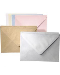 Kirjekuoret, värilliset, värilajitelma, 120 kpl/ 1 pkk