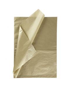 Silkkipaperi, 50x70 cm, 14 g, kulta, 25 ark/ 1 pkk
