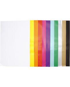 Kiiltopaperi, 32x48 cm, 80 g, värilajitelma, 11x25 ark/ 1 pkk