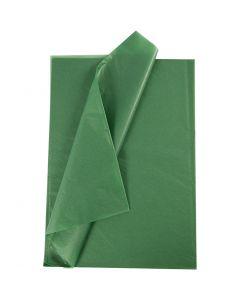 Silkkipaperi, 50x70 cm, 14 g, vihreä, 25 ark/ 1 pkk
