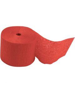 Kreppipaperirulla, Pit. 20 m, Lev: 5 cm, punainen, 20 rll/ 1 pkk