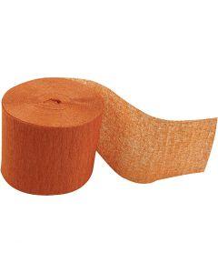 Kreppipaperirulla, Pit. 20 m, Lev: 5 cm, oranssi, 20 rll/ 1 pkk