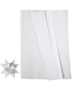 Paperisuikaleet, Pit. 45 cm, Lev: 10 mm, halk. 4,5 cm, valkoinen, 500 suikaleet/ 1 pkk