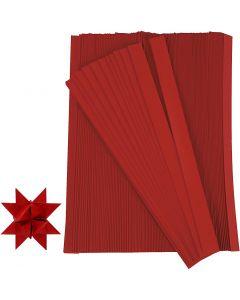 Paperisuikaleet, Pit. 45 cm, Lev: 10 mm, halk. 4,5 cm, punainen, 500 suikaleet/ 1 pkk