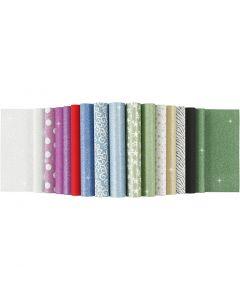 Glitterpaperilehtiö, A4, 210x297 mm, 150 g, 30 ark/ 1 kpl