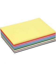 Värillinen kartonki, A5, 148x210 mm, 180 g, värilajitelma, 60 laj/ 1 pkk