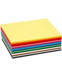 Värillinen kartonki, A6, 105x148 mm, 180 g, värilajitelma, 120 laj/ 1 pkk