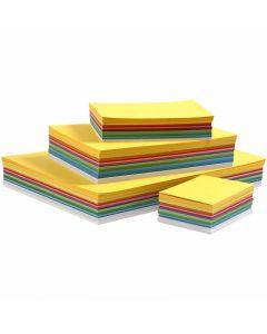 Kevätkartonki, A3,A4,A5,A6, 180 g, värilajitelma, 1500 laj/ 1 pkk