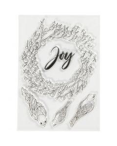 Silikonileimasimet, Joy, koko 10,5x15 cm, 1 ark