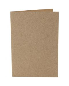 Korttipohja, kortin koko 10,5x15 cm, 220 g, luonnonrusk., 10 kpl/ 1 pkk