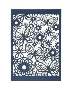 Pitsikartonki, 10,5x15 cm, 200 g, sininen, 10 kpl/ 1 pkk
