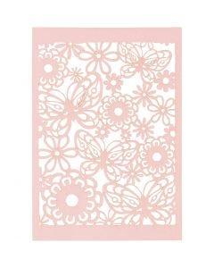 Pitsikartonki, 10,5x15 cm, 200 g, vaaleanpunainen, 10 kpl/ 1 pkk