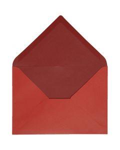 Kirjekuori, kirjekuoren koko 11,5x16 cm, 100 g, punainen/viininpunainen, 10 kpl/ 1 pkk