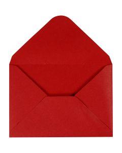 Kirjekuori, kirjekuoren koko 11,5x16 cm, 110 g, punainen, 10 kpl/ 1 pkk