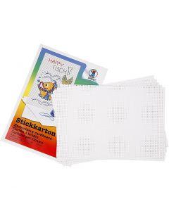 Ompelukartonki, koko 23x33 cm, 3x3 reikää/cm , valkoinen, 10 ark/ 1 pkk