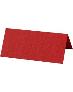 Paikkakortit, koko 9x4 cm, 220 g, punainen, 10 kpl/ 1 pkk