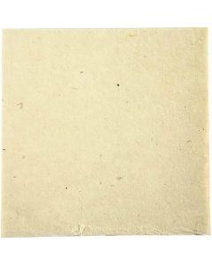 Käsintehty luonnonpaperi, 20x20 cm, 70 g, luonnonvalkonen, 10 ark/ 1 pkk