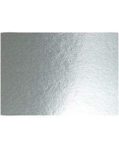 Metallikartonki, A4, 210x297 mm, 280 g, hopea, 10 ark/ 1 pkk