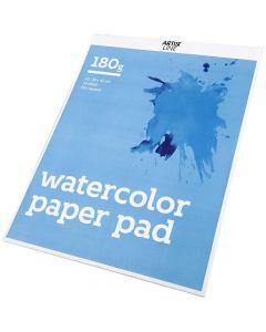 Akvarellilehtiö, A3, 297x420 mm, 180 g, valkoinen, 20 ark/ 1 kpl