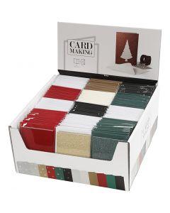 Korttipohjat ja kirjekuoret, kortin koko 10,5x15 cm, kirjekuoren koko 11,5x16,5 cm, 120 set/ 1 pkk