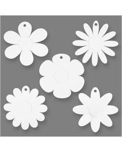 Kukat, halk. 20 cm, 400 g, valkoinen, 5x3 kpl/ 1 pkk