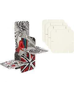 Konstruktiopala, koko 9,3x9,3 cm, valkoinen, 200 kpl/ 1 pkk