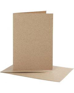 Korttipohjat kirjekuorineen, kortin koko 10,5x15 cm, kirjekuoren koko 11,5x16,5 cm, 10 set/ 1 pkk