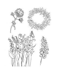 Kirkkaat leimasimet, Kevät, 11x15,5 cm, 1 ark