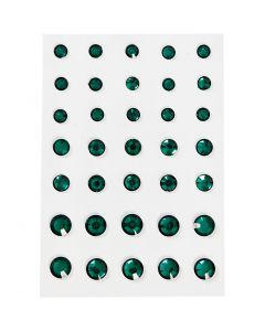Akryylitimantit, pyöreä kartio, koko 6+8+10 mm, vihreä, 35 kpl/ 1 pkk