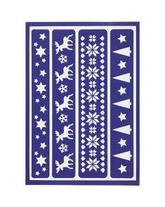 Taipuisa sabloni, jouluboordit, 21x14,8 cm, 1 kpl