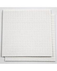 3D-tarratyynyt, koko 5x5 mm, paksuus 1 mm, valkoinen, 2 ark/ 1 pkk, 2x400 kpl
