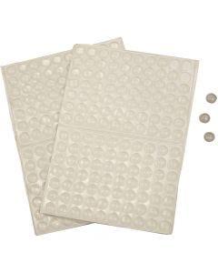 Silikonitäplät, Kork. 1,5 mm, halk. 8 mm, 300 kpl/ 1 pkk