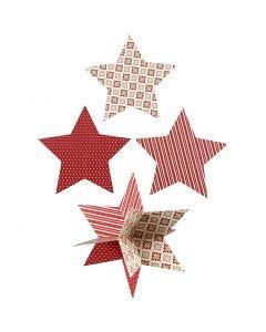3D-tähdet, halk. 15 cm, 300 g, 3 kpl/ 1 pkk