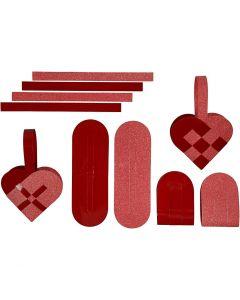 Punotut sydämet, 120 + 128 g, 8 set/ 1 pkk